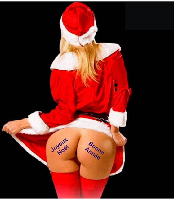 Femme Nu Joyeux Noel Étrangler le lion de némée et serrer les fesses