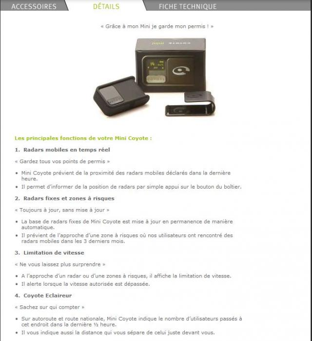 [Vends] COYOTE Mini V1 - Avertisseur de Radar Communiquant - 99€ C2-22f1da6
