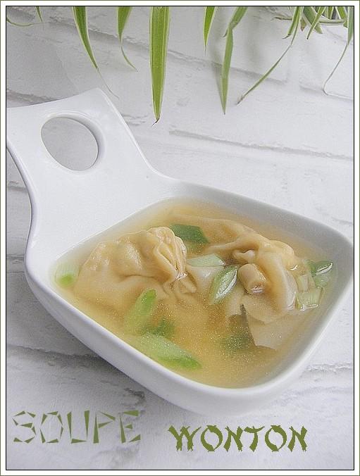 Soupe de wontons farcis au poulet les saveurs partagees - Cuisine au pays du soleil ...